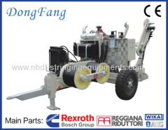 60 KN Cable Tension Stringing Equipment with German Rexroth pump