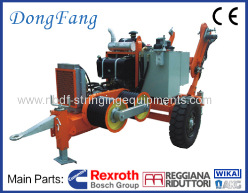 40 KN Cable Tension Stringing Equipments with Cummins engine