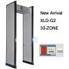 33 ZONES security door frame walk through metal detector gate for airport