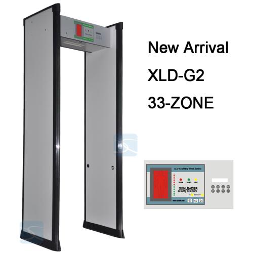 33 ZONES security door frame walk through metal detector gate for ...