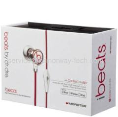 New Beats by Dr Dre iBeats Earphone Headphones Earbuds with ControlTalk And Mic White