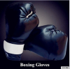 China Manufacturer Top quality red/black colors junior boxing gloves