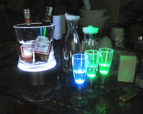 LED Waist Form Ice Bucket