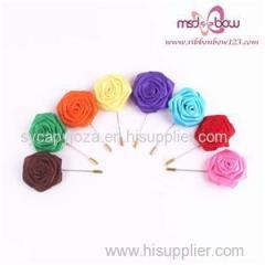 Brooch Ribbon Rose Flowers On Garment