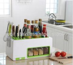 plastic knife rack seasoning pot kitchen storage