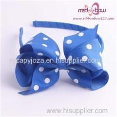 Dot Hair Bows Headbands For Baby Girls