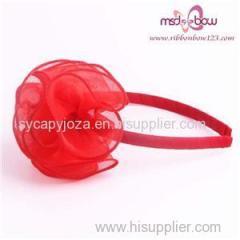Ribbon Organza Bow Headband For Girls
