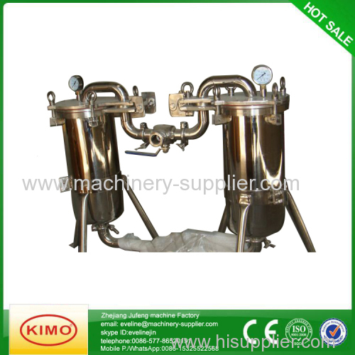 SS bag type bouble filter for beverage/bairy procesiing line