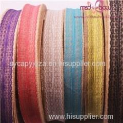 Natural Jute Burlap Hessian Ribbon