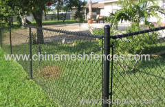 4' tall Residential Vinyl Coated Chain Link Fence