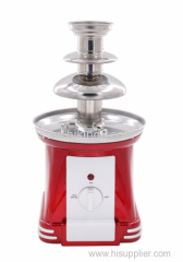 stainless steel tower mini 3 tier chocolate fondue fountain maker