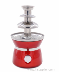 stainless steel tower 3 tier chocolate fondue fountain maker