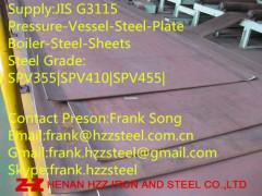 Offer:JIS-G3115 SPV355 SPV410 SPV455 Boiler Steel plate Steel sheet