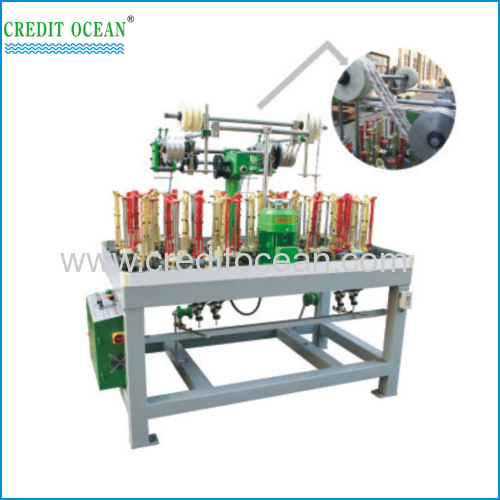 Rope lace braiding machine