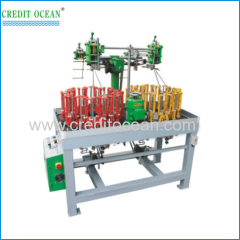 Flat rope braiding machine