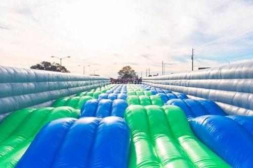 Inflatable obstacle course wave run games