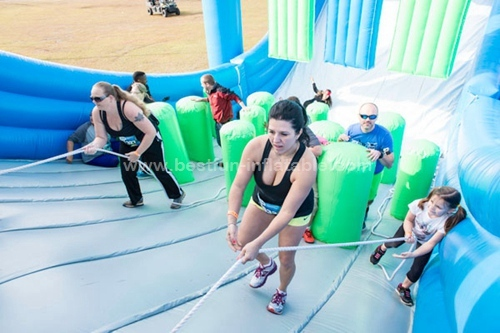 Insane Inflatable 5K Crash Course Obstacles