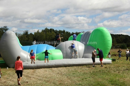 Insane Inflatable Jump Around Obstacle Course