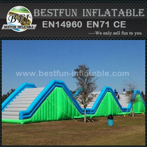 Inflatable sport games humps with slide for adult