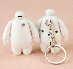 LED Baymax Sound Keychain