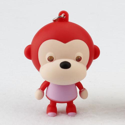 LED Mouth Monkey Sound Keychain