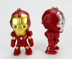 LED Iron Man Sound Keychain