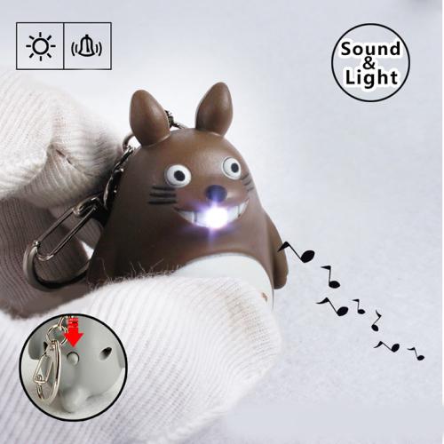 LED Totoro Sound Keychain