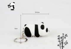 LED Cute Panda Sound Keychain