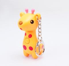 LED Giraffe Sound Keychain