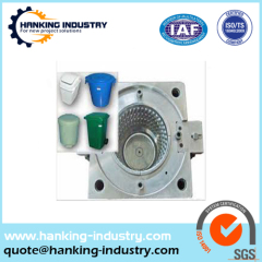 plastic injection bucket mould drum mold molding with high quality