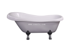Classical freestanding bathtub with 4 zinc legs