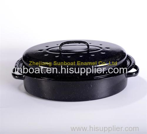 6pcs/carton 18 inch cast iron enamel roaster pan
