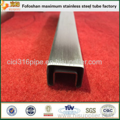 China Stainless Steel Pipe Manufacturers Handrail Grooved Tube Square Tubing
