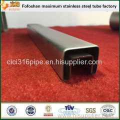 Handrail Used 304 Square Stainless Steel Tubing Grooved Tube Price