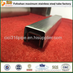 2016 Popular Handrail Construction Stainless Steel Grooved Square Tube/Pipe