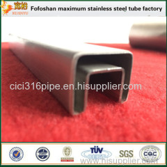 316 ASTM Grade Stainless Steel Slot Tube Small Square Tubing