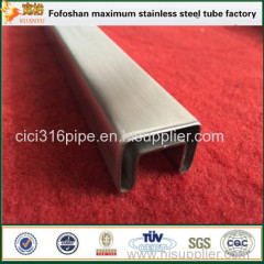 2016 Stainless Steel Slotted Pipe Stainless Steel Square Tubing Factory