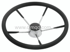 Steering Wheel AISI 316. Foam Coated