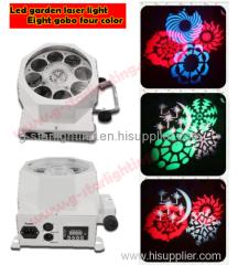 LED Eight gobo four color design light/effect light/flower lights