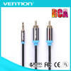 Vention Black Best Price 3.5mm Male to 2Rca cable