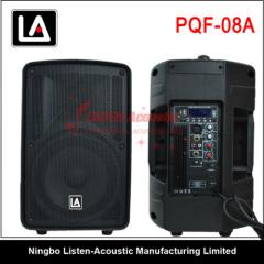 8 inch full range active plastic speaker cabinet