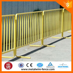 Event used crowd control pedestrian barriers