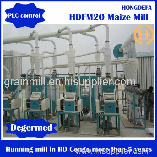 20T/24H corn mill maize milling plant maize milling machine for Africa