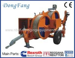 OPGW Stringing Equipment Puller and Tensioner for installation on Overhead Transmission Line