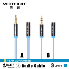 Vention Gold Plated 4 Pole Audio Extension Male to Female Aux