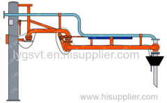 Top closed loading arm with vapor recovery system