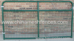 Galvanized Wire Filled Tube Frame Gate