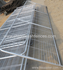 Galvanized welded wire and tube farm fence gate