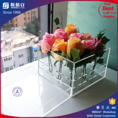 Luxury acrylic gift box/ clear acrylic luxury flower box