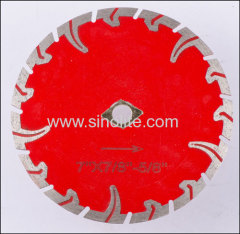 Diamond cold-pressed turbo saw blades